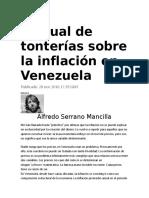 Manual de tonterías sobre la inflación en Venezuela (1)