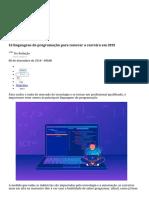 16 Linguagens de Programação Para Renovar a Carreira Em 2019 - IDG Now!