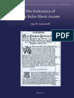 Jay Jasanoff, The Prehistory of the Balto-Slavic accent