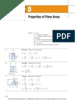 Appendix D-Properties of Plane Areas