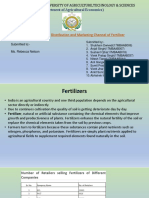 Distribution and Marketing Channel of Fertilizer