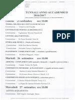 12_55!46!327_esami Autunnali a.a. 2016-2017- Il Presente Calendario Annulla e Sostituisce Il Prec. Prot