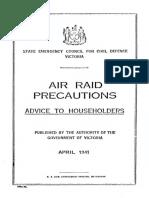 Air Raid Precautions Advice to Householders 1941