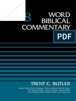 Word Biblical Commentary 8 Judges, Volume 8 - Trent C. Butler