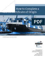 When and How to Complete a NAFTA Certificate of Origin White Paper