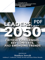 Leadership 2050 Critical Challenges, Key Contexts, and Emerging Trends