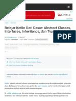 Belajar Kotlin Dari Dasar_ Abstract Classes, Interfaces, Inheritance, dan Type Alias.pdf