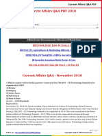 Current Affairs Q&A PDF Free - November 2018 by AffairsCloud