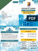 BUKU PROGRAM Majlis Khatam Al Quran