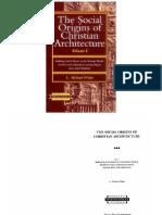 The Social Origins of Christian Ancient Buildings