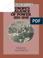 [Problems in Focus Series] Alan Sked (eds.) - Europe's Balance of Power 1815–1848 (1979, Macmillan Education UK).pdf