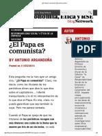 ¿El Papa Es Comunista_ _ Economía y Ética