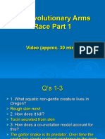 The Evolutionary Arms Race Part 1 KEY)