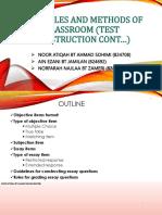 principles methods of classroom test construction  cont