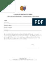 Modulo Abbonamenti 2008-09