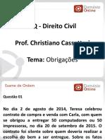 PPTRQ - Aula 01 - Direito Civil - Obrigacoes - Prof. Christiano Cassettari