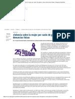 Violencia Sobre La Mujer Por Razón de Género Versus Denuncias Falsas _ Abogacía Española