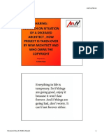 Research on Situation of a Deceased Architect , How Project is Taken Over by New Architect and Who Owns the Copyright