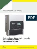 Manual Steca Mppt6000-M-s2c1 Es