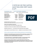 Reasons to Vote No on the Capital Sales Tax