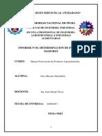 Manejo Primer Informe Indice de Madurez en Frutas - Copia - Copia