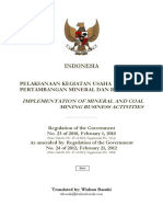 Government Regulation No. 23 of 2010 with Amendment No.24 of 2012 on Mineral and Coal Mining Business in Indonesia.pdf