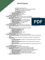 2008 KM PADP Objectives
