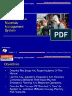 The Hazardous Materials Management System