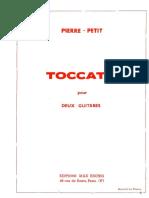 Toccata, Pierre Petit