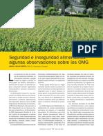 Seguridad y Insuguridad Alimentaria - Algunas Observacones Sobre Los Omg