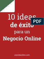 10 Ideas de Éxito Para Un Negocio Online