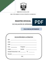 Registro Oficial en EBA CICLO INICIAL E INTERMEDIO