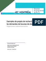 Exemples Projets de Recherche PHD