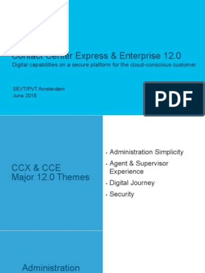 Contact Center Express & Enterprise 12 0: Digital