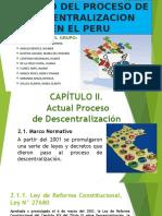El proceso de descentralización en el Perú