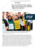 The Optimistic Activists for a Green New Deal_ Inside the Youth-Led Singing Sunrise Movement _ the New Yorker