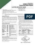 6160CR 2 Installation Instructions