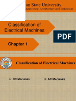 Classification of Electrical Machines