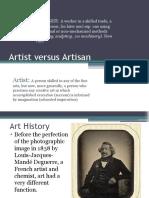 Artist Versus Artisan - Pottery