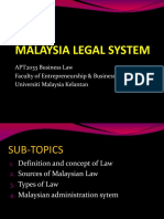 (1) Malaysia Legal System