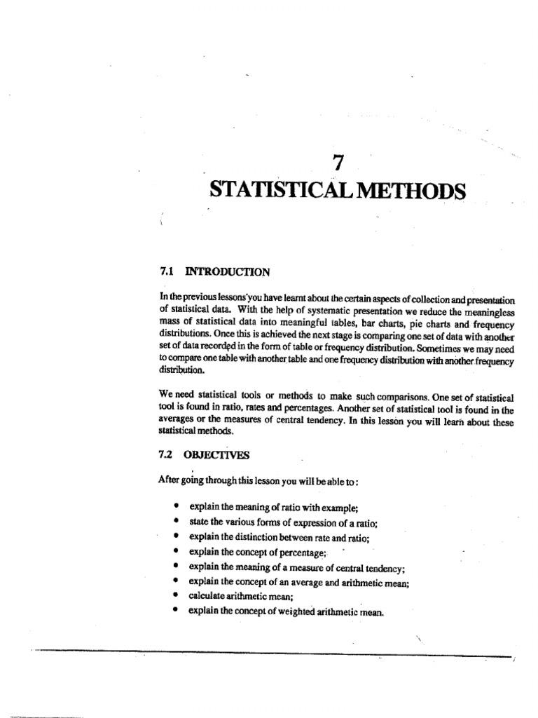 L-7 STATISTICAL METHODS pdf