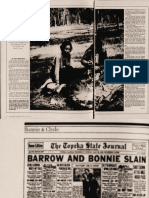 Bonnie and Clyde Death Car Article 1974