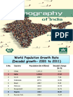 Demographic Features of India's Population (ppt)