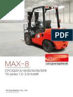EP T8 Diesel Forklifts