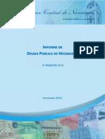 Informe de Deuda Pública de Nicaragua III Trimestre 2018