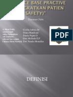 Evidence Base Practive (Meningkatkan Patien Safety