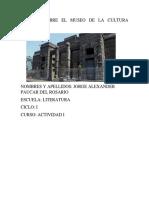 Informe Sobre El Museo de La Cultura Peruana