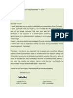 Letter to the Organizer