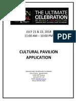 2018 Cultural Pavilion