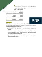 Time Value of Money, Depreciation, Inventory